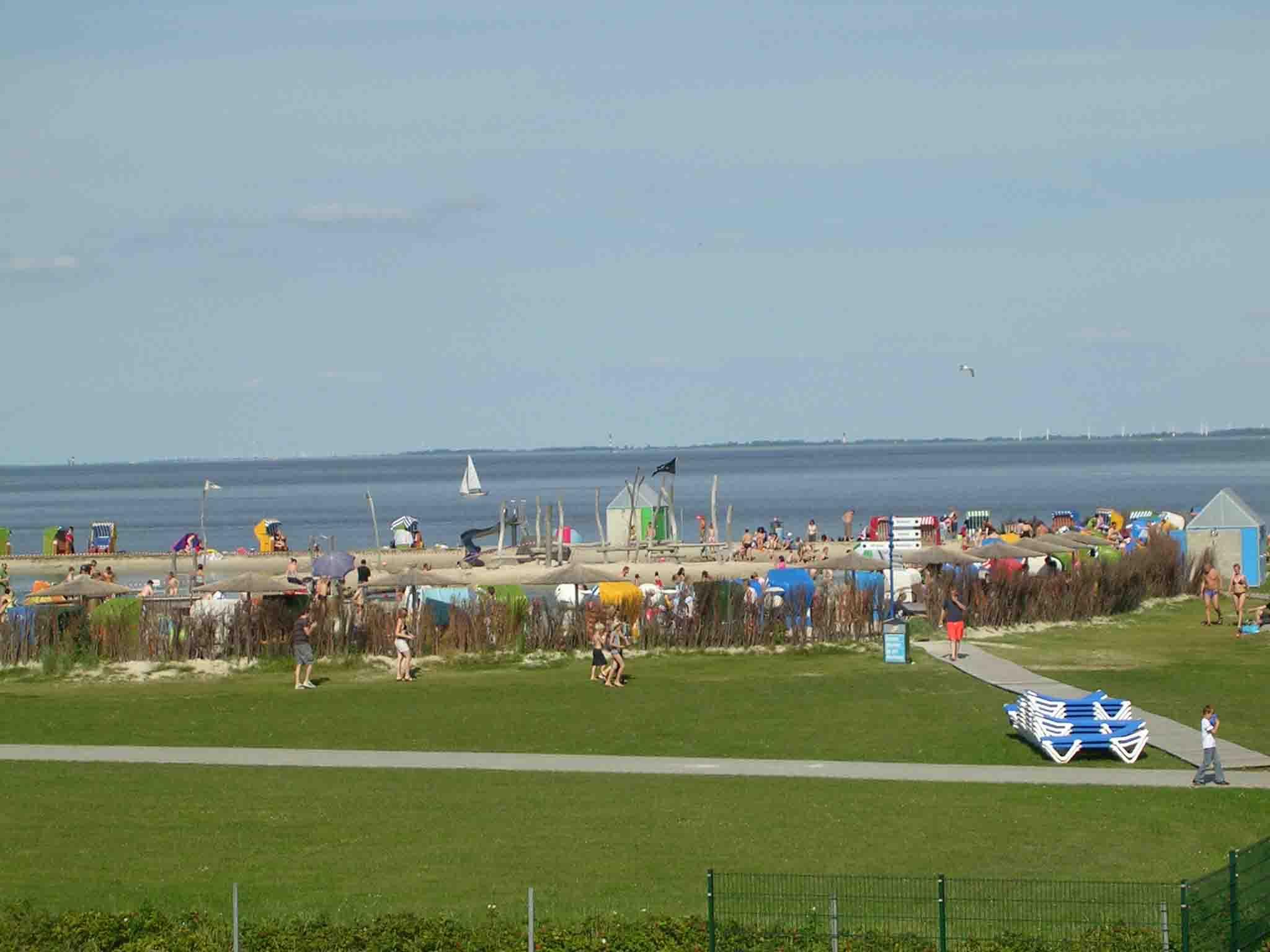 Der Eintritt in die Nordseelagune ist im Mietpreis der Wohnung ebenfalls inbegriffen.